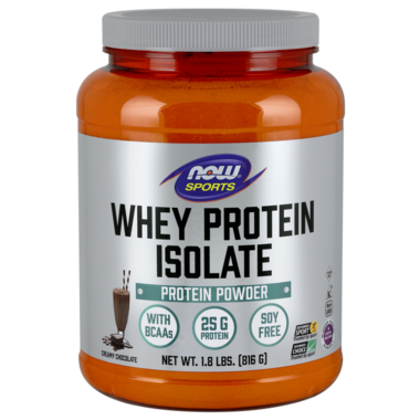 NOW Sports Whey Protein Isolate Creamy Chocolate Powder