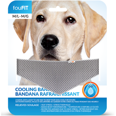 FouFit Cooling Bandana Medium Large Blue