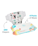 The Honest Company Space Travel Print Diapers & Wipes Bundle Size 2