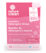 Nature Clean Laundry Detergent Strips Wildflower