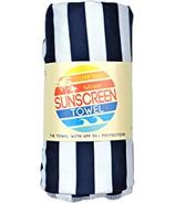 Luv Bug Sunscreen Towel Full Size Navy Stripe