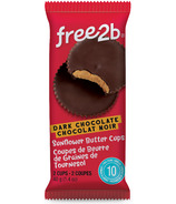 Free2b Sun Cups Coated in Dark Chocolate