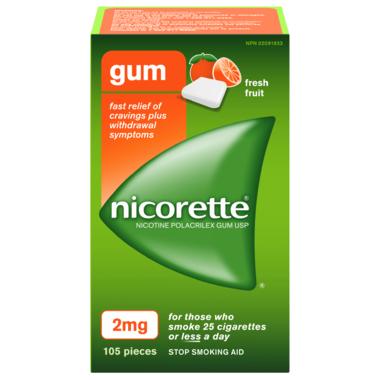 NICORETTE Gum Fresh Fruit 2mg