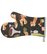 Now Designs Kitchen Style Mitts Wine & Cheese