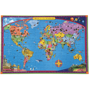 eeboo World Map Kid\'s Puzzle