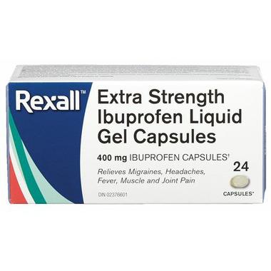 Rexall Extra Strength Ibuprofen Liquid Gel Capsules 400 mg
