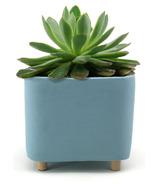 Natural Living Quatu Square Planter Large Light Blue