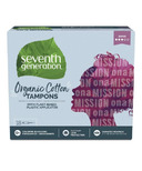 Seventh Generation Organic Cotton Tampons Super