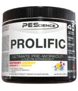 PEScience Prolific Pre-Workout Raspberry Lemonade