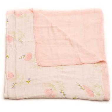 Little Unicorn Bamboo Muslin Quilt Pink Peony