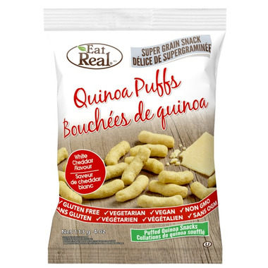 Eat Real Quinoa Puffs White Cheddar Flavour