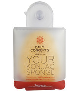 DAILY CONCEPTS All Natural Your Konjac Sponge Turmeric