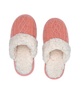 Pudus Slide Slippers Cable Knit Blush