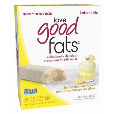 Love Good Fats Lemon Mousse Bar Case