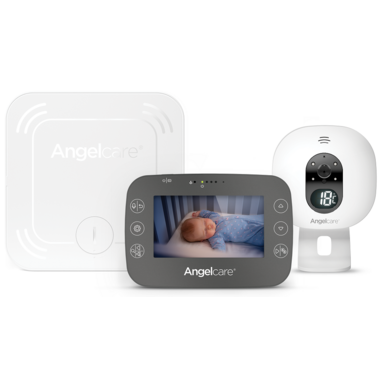 """Angelcare Breathing Monitor with 4.3\"""" Video Black AC337"""