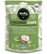 Healthy Crunch Matcha Moringa Latte Coconut Chips