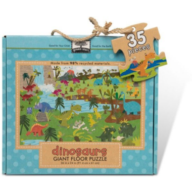 Melissa & Doug Natural Play Giant Floor Puzzle Dinosaurs