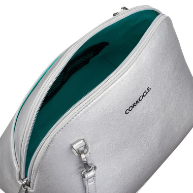 Corkcicle Adair Crossbody Insulated Lunch Bag Silver