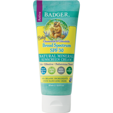 Badger SPF 30 Chamomile Baby Sunscreen Cream