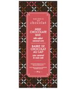 Barre de chocolat au lait au caramel salé de la Galerie au Chocolat
