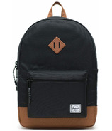 Herschel Supply Heritage Backpack Youth XL Black & Saddle Brown