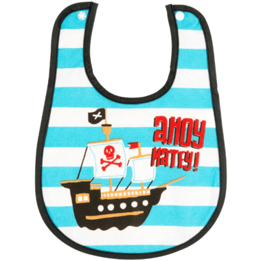Hatley Little Blue House Infant Coated Bib Pirates
