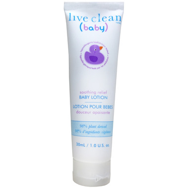 Live Clean Baby Soothing Relief Travel Size Baby Lotion