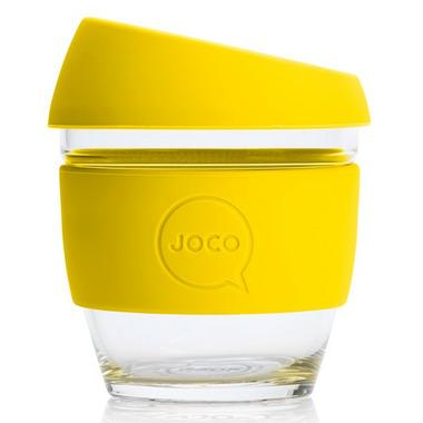 JOCO Glass Reusable Coffee Cup in Lemon