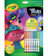 Crayola Colouring & Activity Book Trolls World Tour