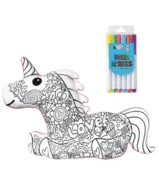 iScream Magical Unicorn Colour Me Pillow Set