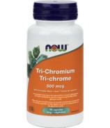 NOW Foods Tri-Chromium with Cinnamon Bark Veg Capsules