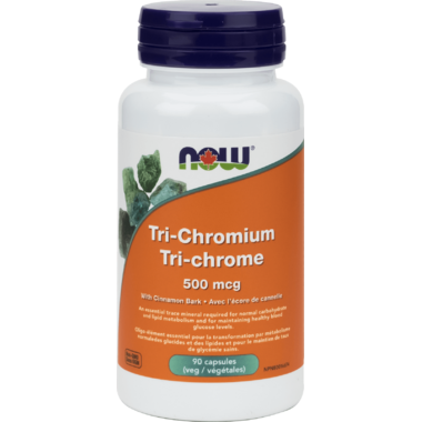 NOW Foods Tri-Chromium with Cinnamon Bark Veg Capsules