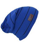 L&P Apparel Cotton Slouchy Beanie Blue & Black