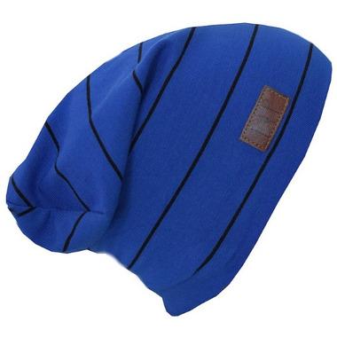 L&P Apparel Cotton Slouchy Beanie Blue & Black