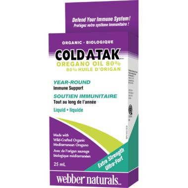 Webber Naturals Cold-A-Tak Oregano Oil 80%