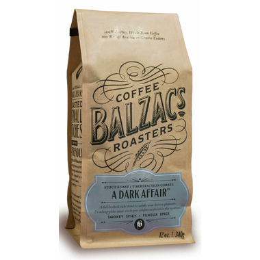 Balzac\'s Coffee Roasters Whole Bean A Dark Affair