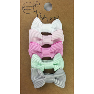 Baby Wisp 5 Charlotte Bows Snap Clip Flowers in Attic