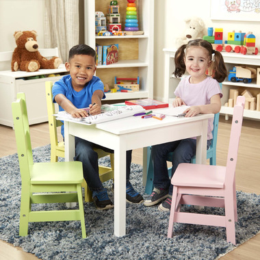 Melissa & Doug Kids Furniture Wooden Table and 4 Chairs