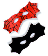 Great Pretenders Reversible Spider Bat Mask Red and Black