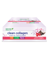 Genuine Health Clean Collagen Protein Bars Chocolate Raspberry