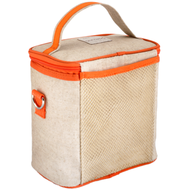SoYoung Raw Linen Orange Fox Large Cooler Bag