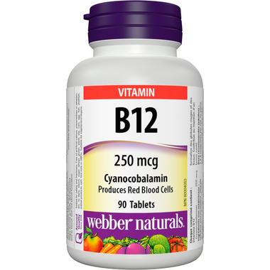 Webber Naturals Vitamin B12 Cyanocobalamin