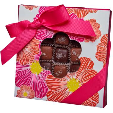 Saxon Chocolates Milk & Dark Chocolate Sea Salt Caramel Box