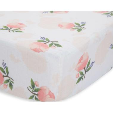 Little Unicorn Cotton Muslin Crib Sheet Watercolor Rose