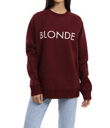 BRUNETTE The Label BLONDE Classic Crew Burgundy