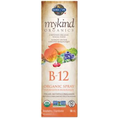 Garden of Life MyKind Organics Vitamin B-12 Organic Raspberry Spray