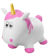 Fantasy Hoppers Inflatable Bouncing Unicorn Pink
