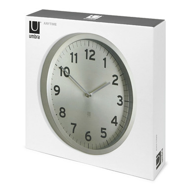 Umbra Anytime Clock Nickel