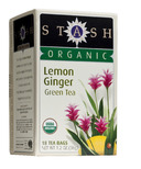 Stash Organic Lemon Ginger Green Tea