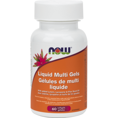 NOW Foods Liquid Multi Gels with Flax Oil Softgels